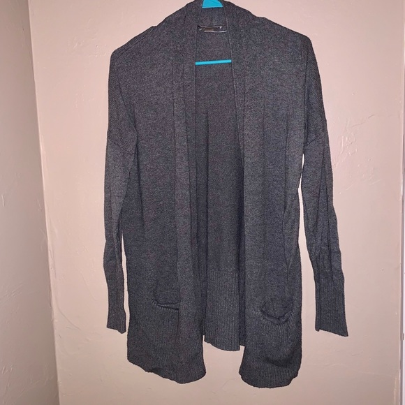 LOFT Sweaters - Loft thick charcoal grey cardigan with pockets M